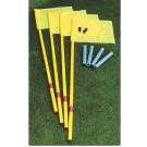 Kit 4 paletti calcio d'angolo flessibili completi di bandierine e bossole