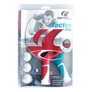 2 Racchette da Ping-Pong con palline Cornilleau Tacteo Pack Duo
