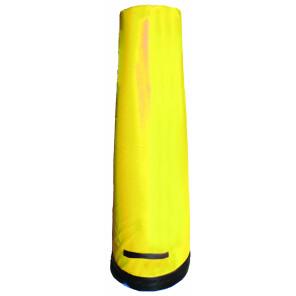 Sagoma allenamenti calcio BARRET in gommapiuma h 205 cm zavorrata alla base con maniglie per trasporto