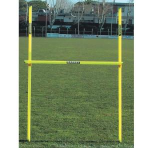 Ostacolo regolabile costituito da 2 paletti h 170 cm 1 traversa e 2 sostegni per allenamenti calcio BARRET