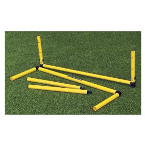 Ostacolo telescopico graduato con altezza regolabile da 40 a 60 cm per allenamenti calcio BARRET