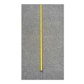 Paletto slalom smontabile con puntale svitabile per allenamenti calcio BARRET 007.25 h 170 cm Giallo