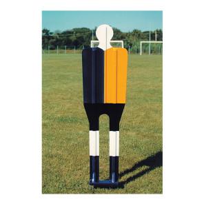 Sagoma allenamenti Calcio BARRET Rossa in vetroresina con 4 puntali in ferro zincato h 185 cm