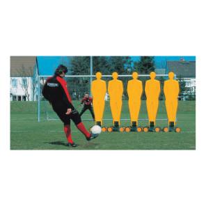 Sagoma allenamenti Calcio BARRET Gialla in plastica rinforzata antiurto su carrello a 4 ruote h 190 cm