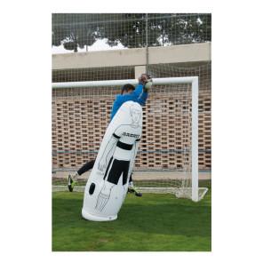 Sagoma allenamenti Calcio BARRET gonfiabile Bianca h 175 cm con base da riempire con acqua