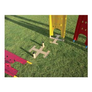 Sagoma allenamenti Calcio BARRET Junior Rossa morbida in telo pvc forato antivento su 2 paletti in pvc h 130 cm