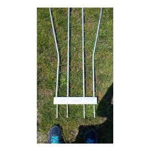 Sagoma allenamenti Calcio BARRET in acciaio zincato h 160 cm